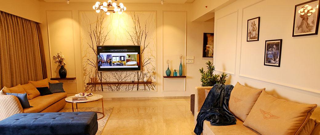 Lodha Serenity - Spacious living room